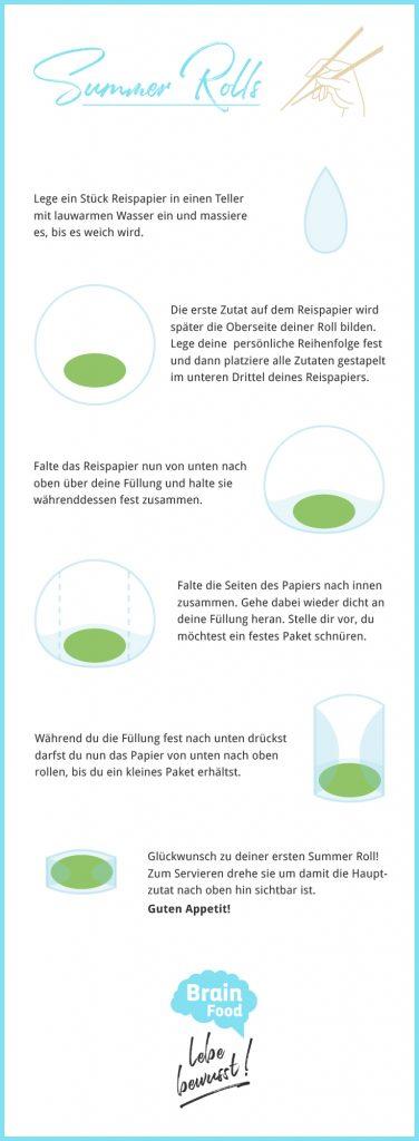 Infografik Sommer Rollen Anleitung