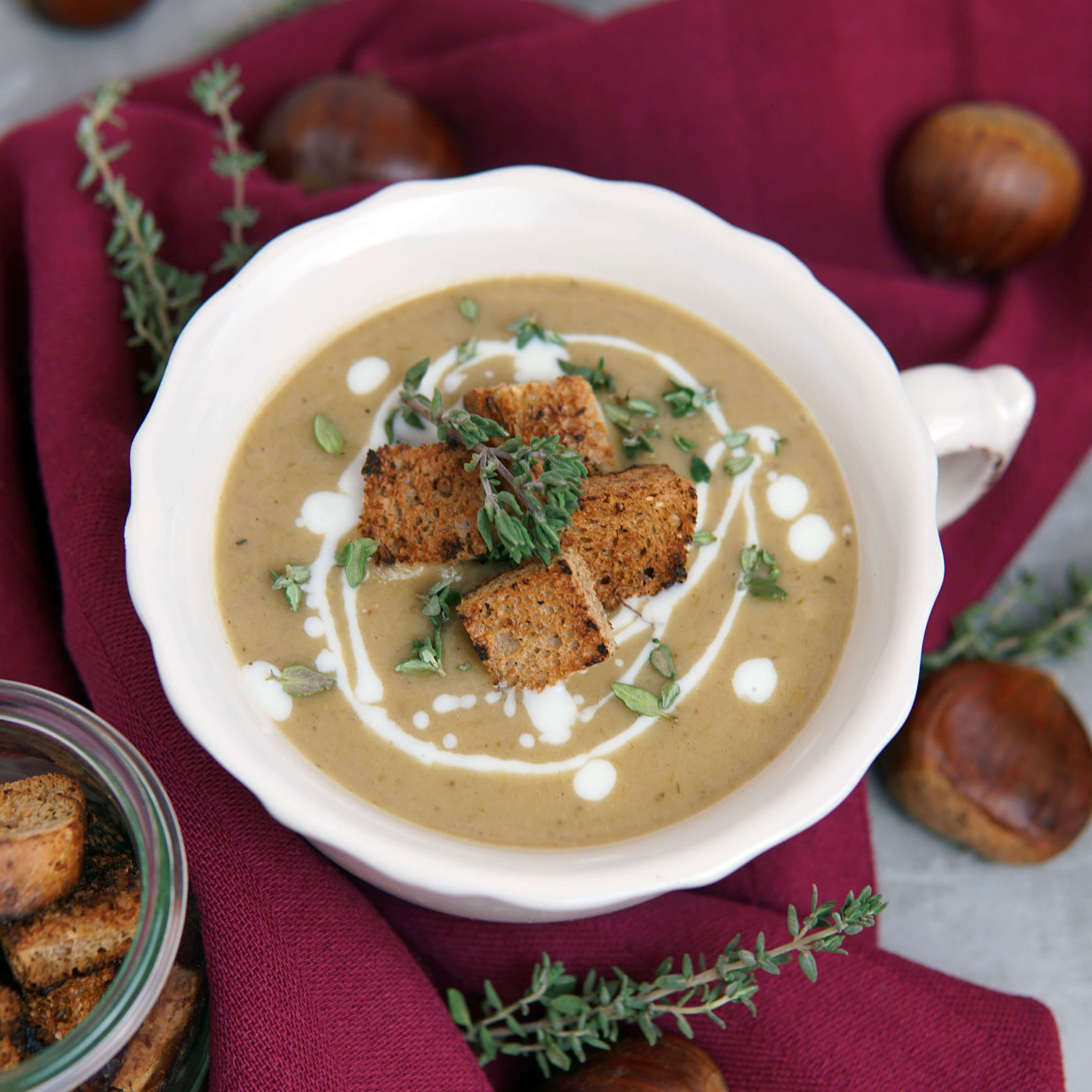 Maronensuppe mit Zimtkrachern von Miriam Sütterlin
