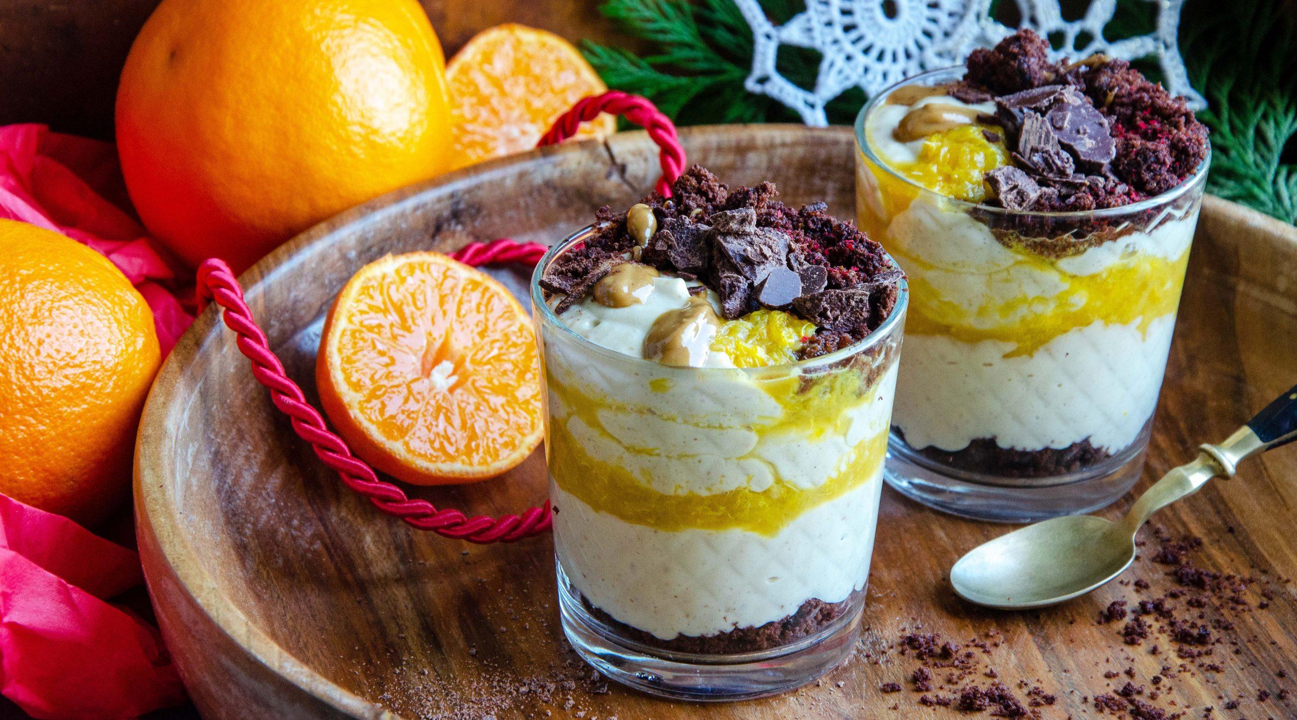 Orangen Dessert im Glas