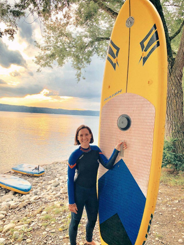 Sandra Strixner Stand up paddling. Yogafestival am Bodensee.