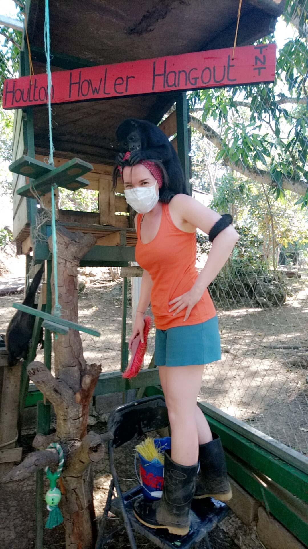 Freiwilligenarbeit in der Tierauffangsstation in Costa Rica.
