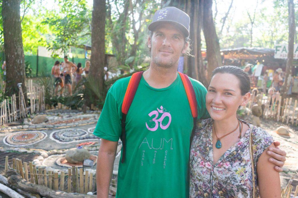 Kip Andersen und Sandra Strixner auf dem Envision Festival.