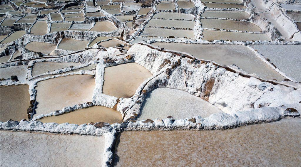 Salzfeld in Maras, Peru Welches Salz ist gesund?