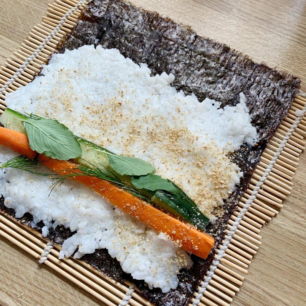 Veganer Sushi selbst machen.