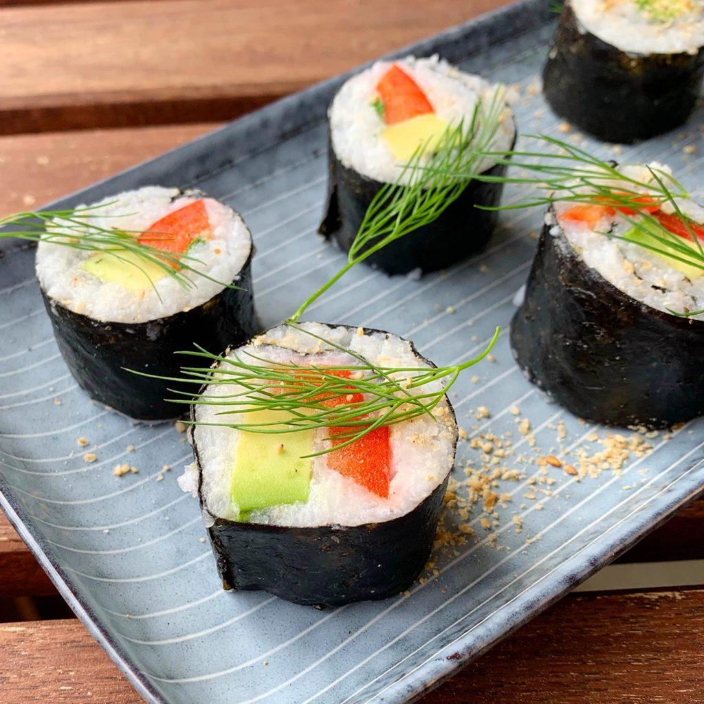 Veganes Sushi. Maki Sushi.