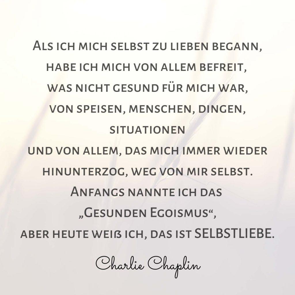 Selbstliebe Charlie Chaplin Zitat