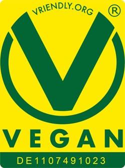 Vegan zertifiziert.