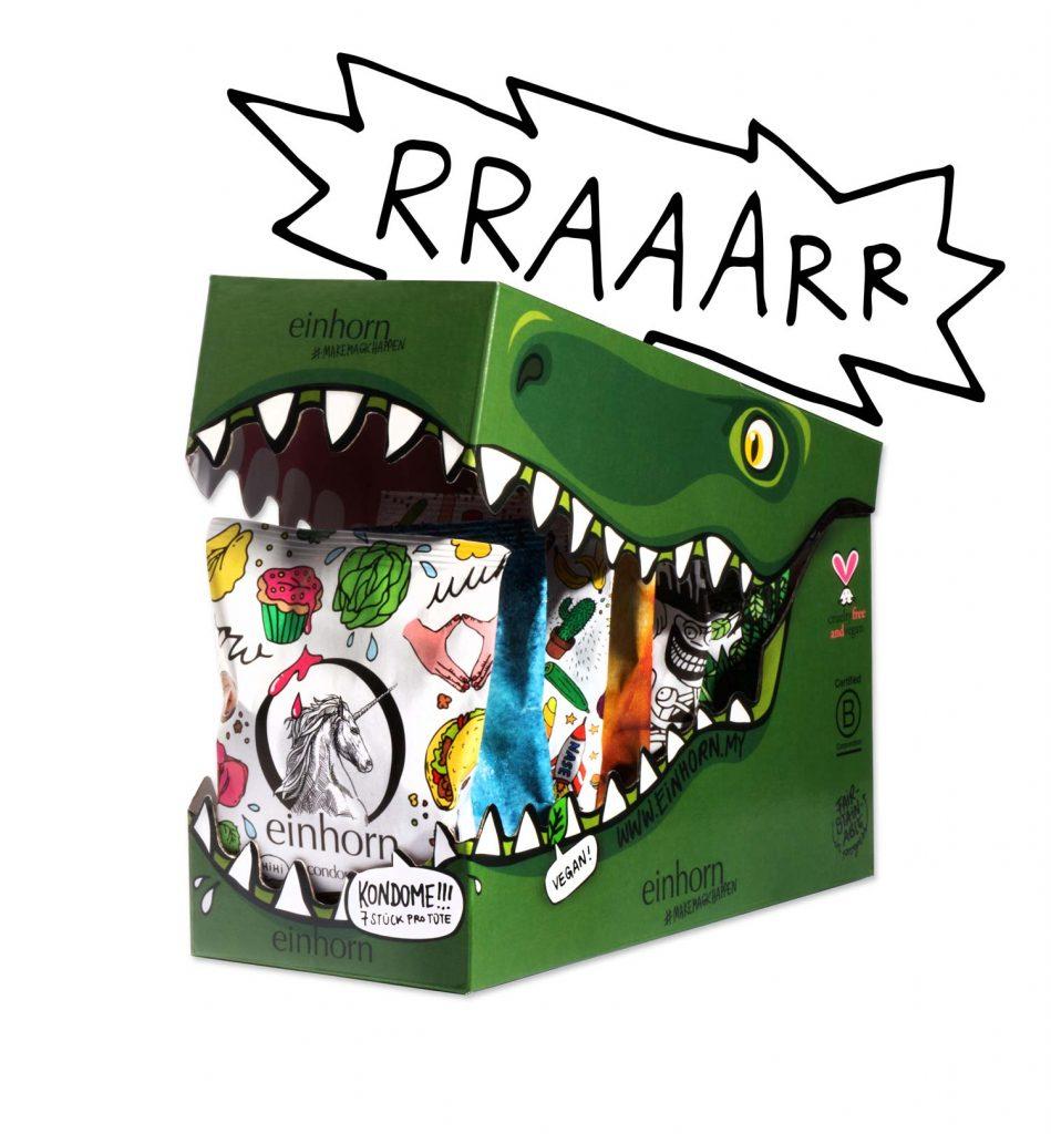 Einhornkondome, vegane Kondome.