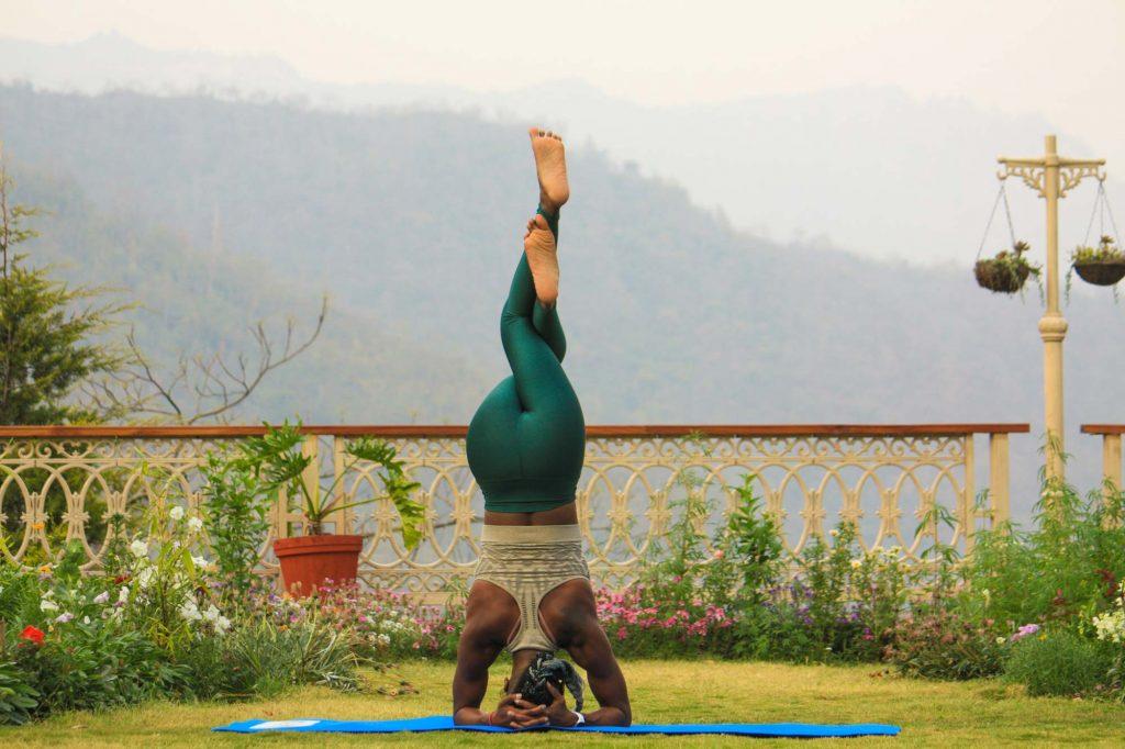 Yoga zum Muskelaufbau.