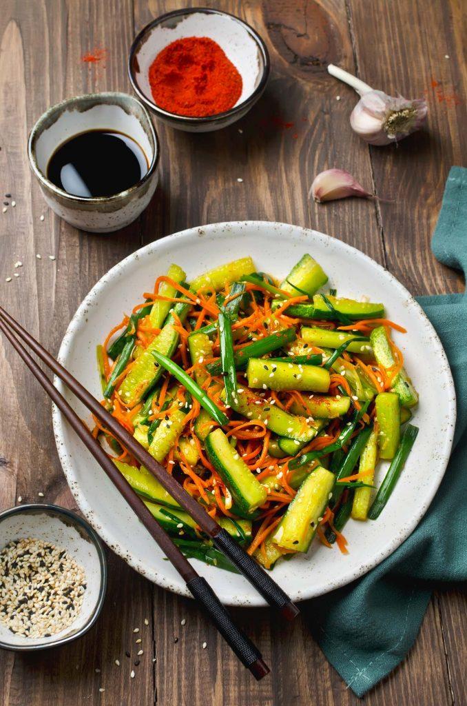 asiatischer Gurkensalat, Asiasalat