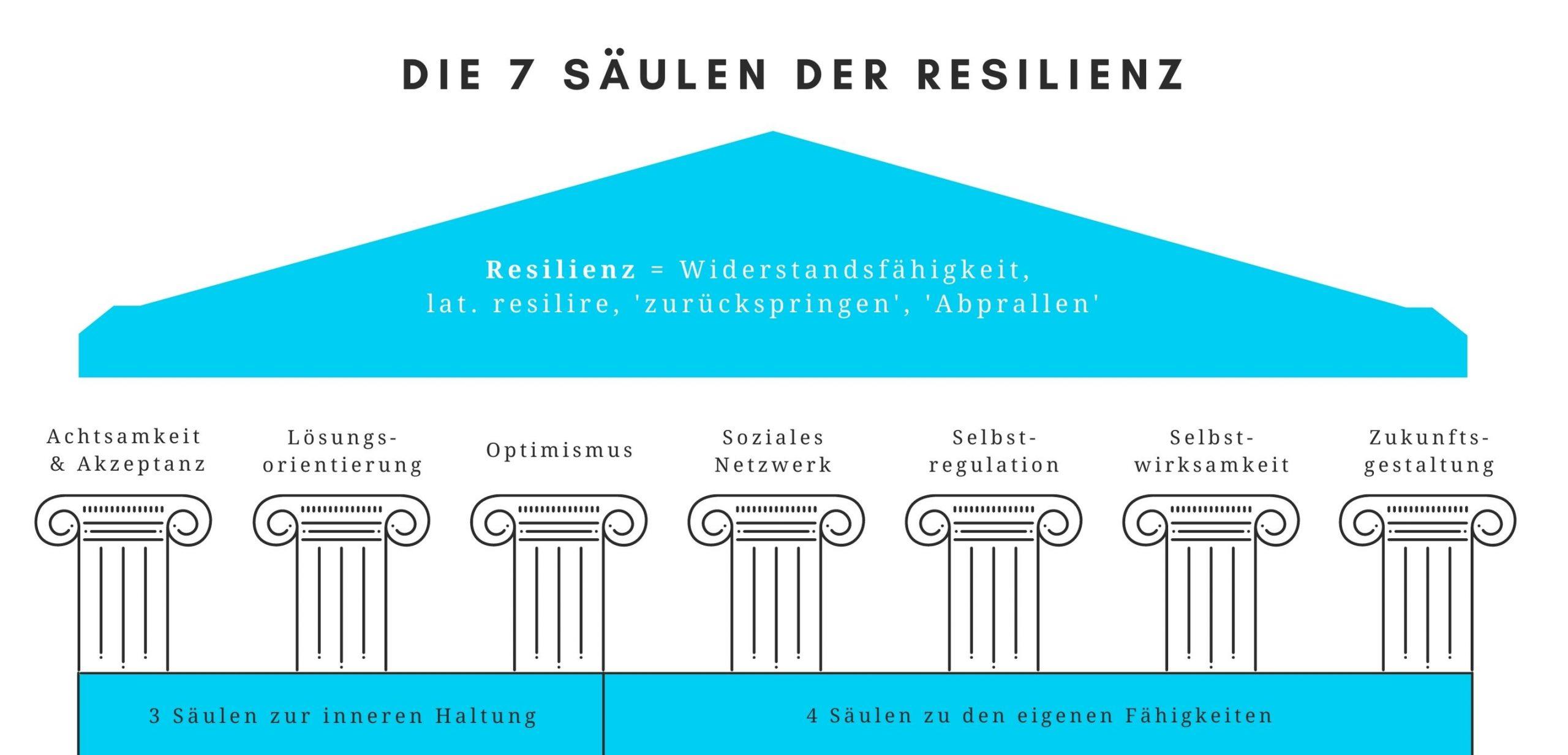 Die 7 Säulen der Resilienz Infografik