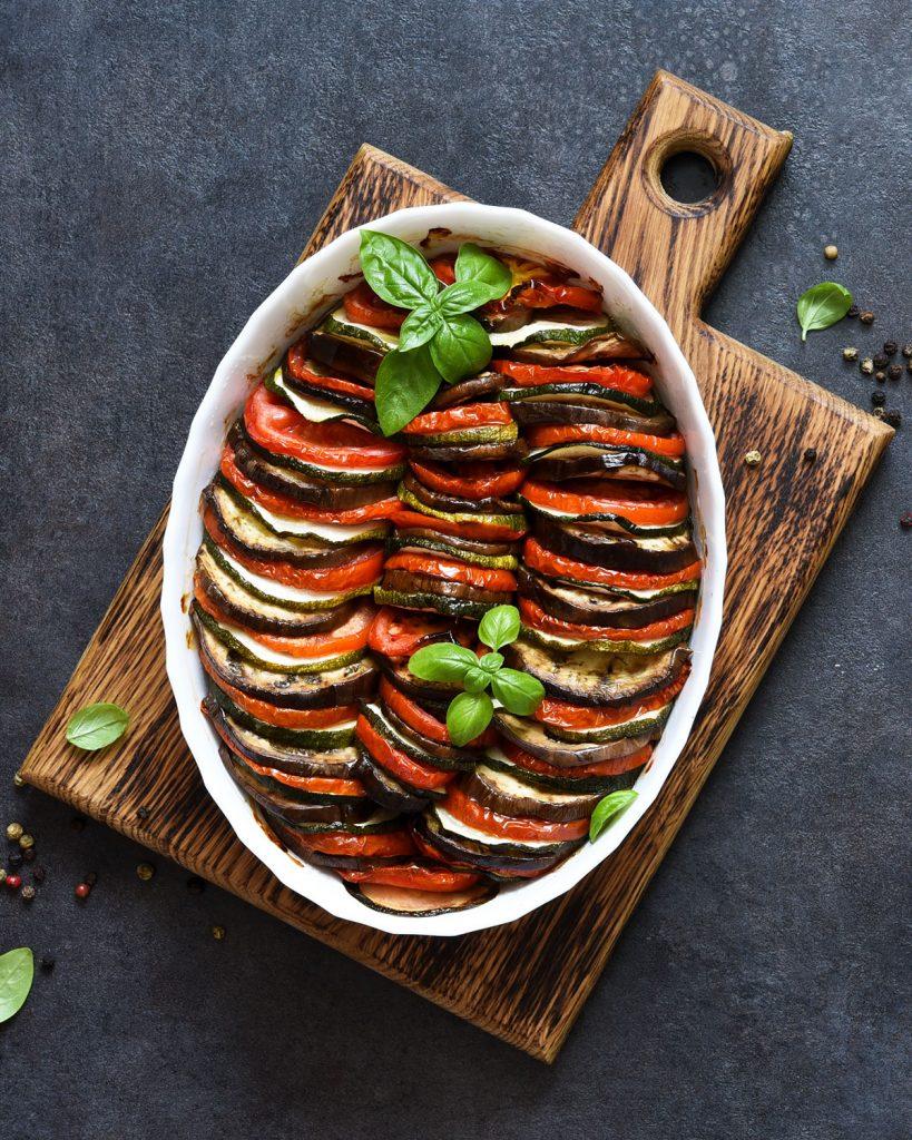 Ratatouille – ein geschmorter französischer Gemüseauflauf